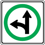 Trubicars Go straight or left turn only