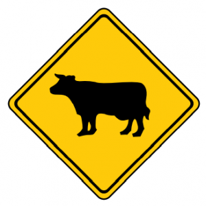 Trubicars Cattle Crossing Ahead