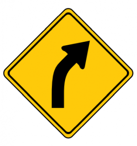 Trubicars Curve to the right ahead