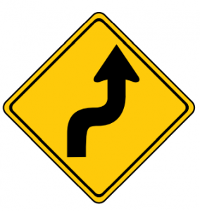 Trubicars Reverse curve ahead