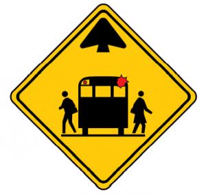 Trubicars School Bus Stop Ahead