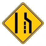 Trubicars Lane ends Right lane ends