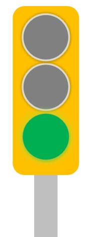 Trubicars Stale Green Traffic Light