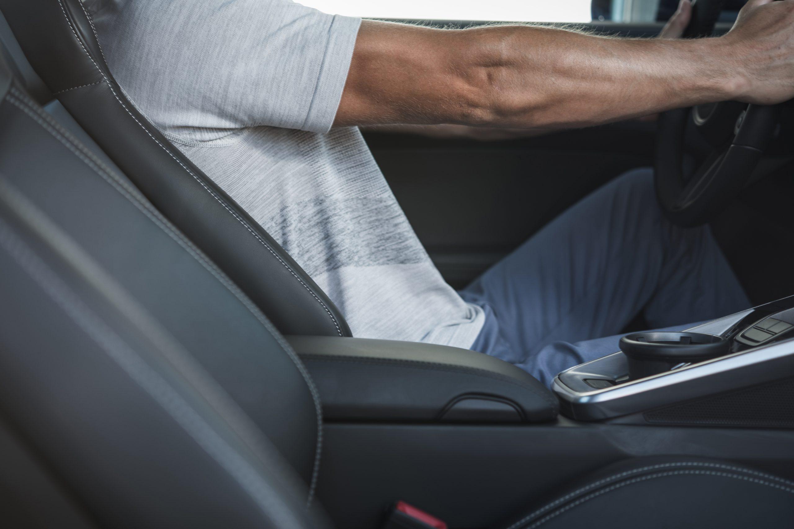 driver in car seat