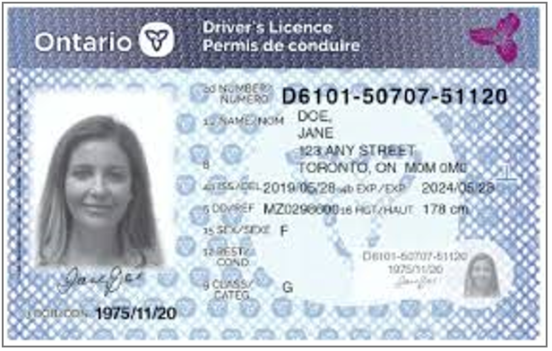 Trubicars driving license in ontario