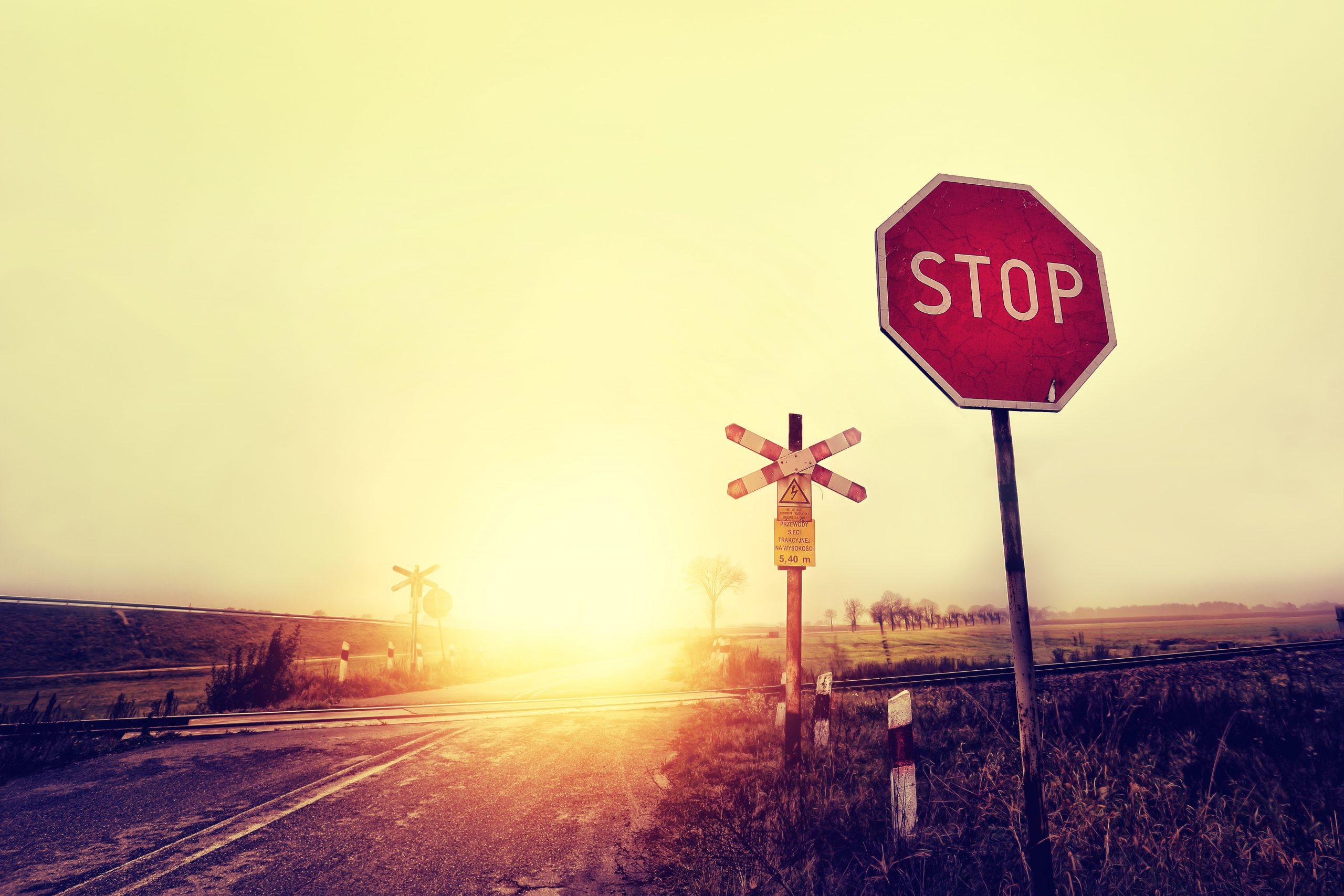 rural stop sign