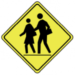 Trubicars School bus stop ahead Stop for bus with flashing lights