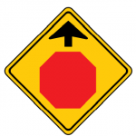 Trubicars stop sign ahead
